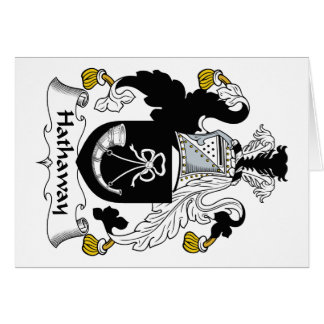 Hathaway Family Crest Card