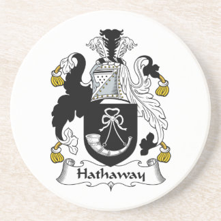 Hathaway Family Crest Drink Coaster