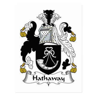 Hathaway Family Crest Postcard