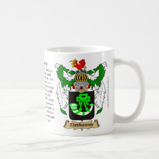 Hathaway, the Origin, the Meaning and the Crest Coffee Mug
