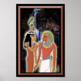 Hathor and Horemheb Print