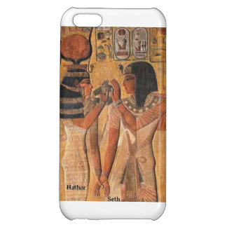Hathor and Seth from Ancient Egyptian art. Cover For iPhone 5C