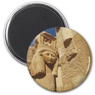 Hathor column - Queen Hatshepsut's Temple, egypt 2 Inch Round Magnet