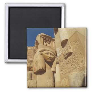 Hathor column - Queen Hatshepsut's Temple, egypt 2 Inch Square Magnet