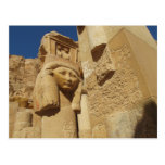 Hathor column - Queen Hatshepsut's Temple, egypt Post Cards