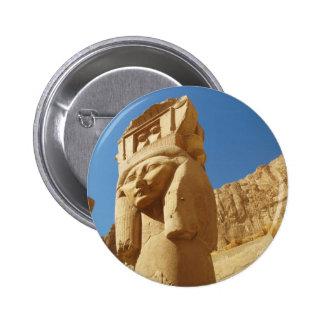 Hathor - diosa del amor y de la música, EGIPTO Pin Redondo 5 Cm