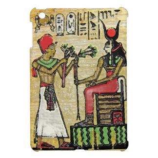 Hathor, diosa egipcia, rama del sicómoro en Thron iPad Mini Fundas