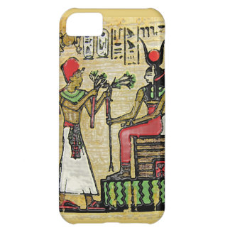 Hathor, Egyptian Goddess, Sycamore Branch on Thron Cover For iPhone 5C