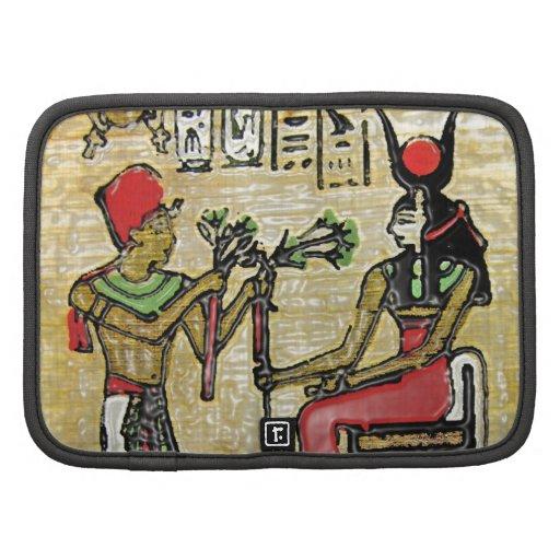 Hathor, Egyptian Goddess, Sycamore Branch on Thron Folio Planner