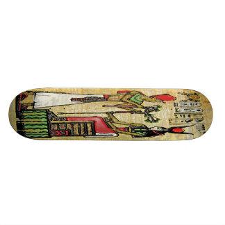 Hathor, Egyptian Goddess, Sycamore Branch on Thron Skateboard Deck