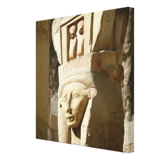 Hathor-headed column, from the Chapel of Canvas Print