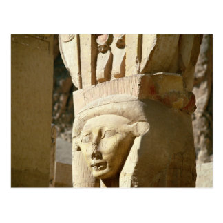 Hathor-headed column, from the Chapel of Postcard