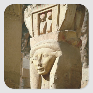 Hathor-headed column, from the Chapel of Square Sticker