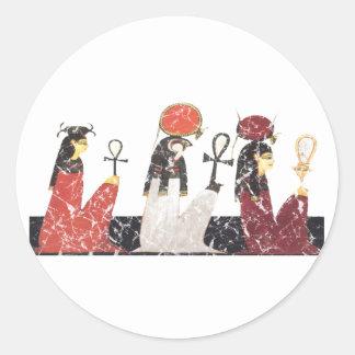 Hathor, Ra y Selkis Pegatinas Redondas