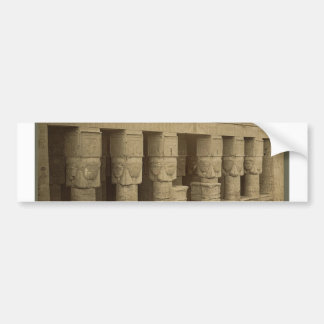 Hathor Temple, Egypt circa 1867 Bumper Sticker