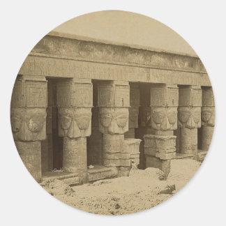 Hathor Temple, Egypt circa 1867 Classic Round Sticker
