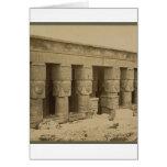 Hathor Temple, Egypt circa 1867 Greeting Cards