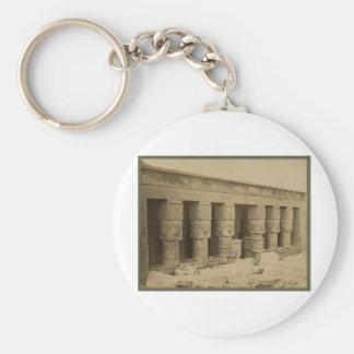 Hathor Temple, Egypt circa 1867 Keychain