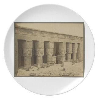 Hathor Temple, Egypt circa 1867 Plate