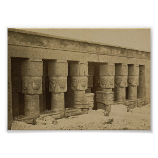 Hathor Temple, Egypt circa 1867 Poster