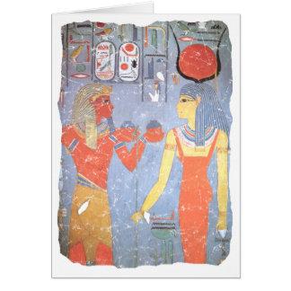 Hathor y Horemheb Tarjeta De Felicitación