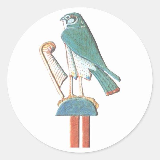 Hathor's headdress classic round sticker