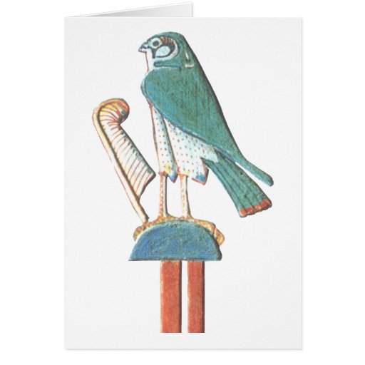Hathor's headdress greeting card