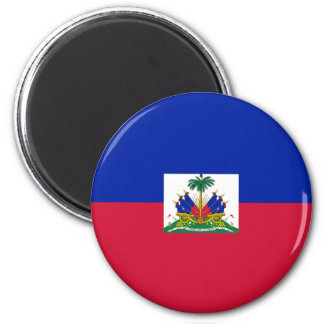 Hatian Flag 2 Inch Round Magnet