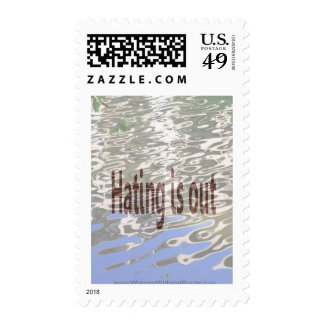Hating is Out Postage Stamps