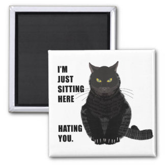Hating You 2 Inch Square Magnet