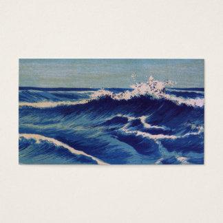 Hatō Zu Waves - Uehara Konen. Japanese Woodblock Business Card