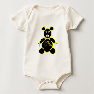 Hatred the crisis and the cuts baby bodysuit