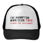 the Hampton  MWB Club  Hats