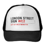 LONDON STREET SIGN  Hats