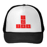 I Lv you  Hats