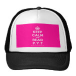 [Crown] keep calm and read p.y.t  Hats