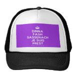 [Crown] dinna fash sassenach je suis prest  Hats