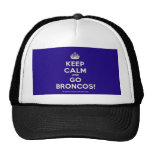 [Crown] keep calm and go broncos!  Hats