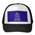 [Knitting crown] keep calm and swim naked  Hats
