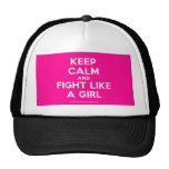 keep calm and fight like a girl  Hats
