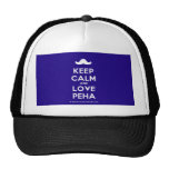 [Moustache] keep calm and love peha  Hats