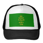 [Knitting crown] keep calm and knit on  Hats