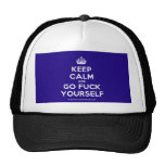 [Crown] keep calm and go fuck yourself  Hats