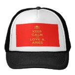 [Skull crossed bones] keep calm and love a aries  Hats