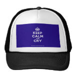 [Crown] keep calm and cry  Hats