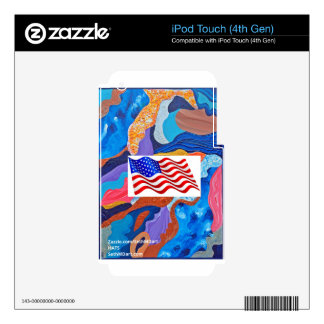Hats American Flag iPod Touch 4G Skins