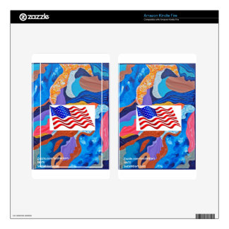 Hats American Flag Kindle Fire Decal
