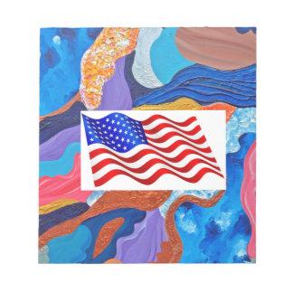 Hats American Flag Notepad