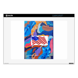 Hats American Flag Skin For Laptop