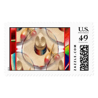 Hats and Music Postage Stamps